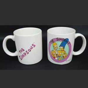 lot of 2 VTG 1990 Simpsons One of the Bunch coffee